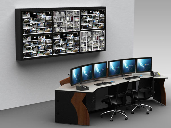Control Room Furniture Property ultra modern, state-of-art and human centric control room